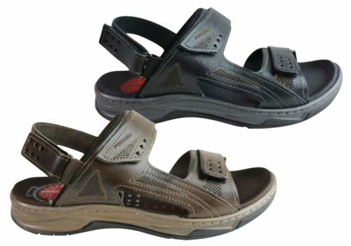 NEW PEGADA JEFF MENS LEATHER COMFORTABLE CUSHIONED SANDALS MADE IN BRAZIL