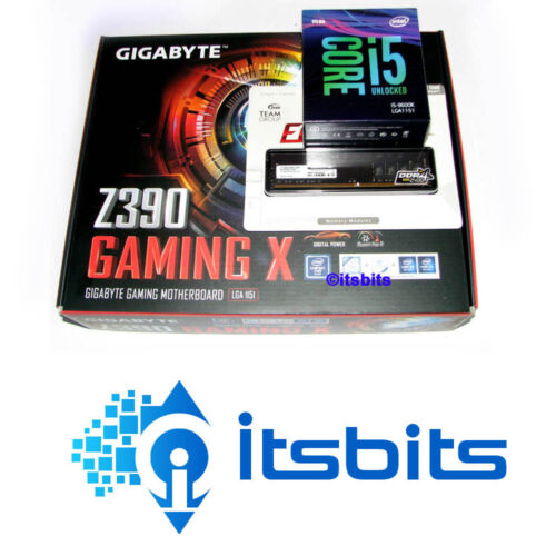 GIGABYTE Z390 GAMING X MOTHERBOARD + Gen9 INTEL i5-9600K 1151 CPU + 8GB RAM 2666