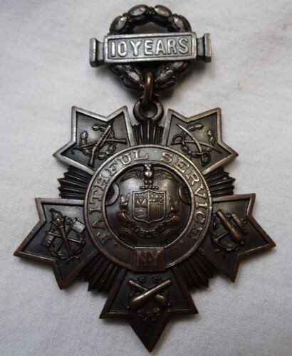 New York National Guard Medal Tiffany & Co 10 Years Faithful Service #'d 5378National Guard - 66532