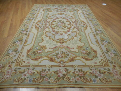 SUPER FINE VE DY FRENCH ABUSSAN TAPESTARY 6x9 CONTEMPORARY RUG
