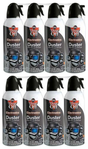 Two 4 Pack Falcon Dust-Off Compressed Air Duster 10 oz Computer Keyboard Cleaner