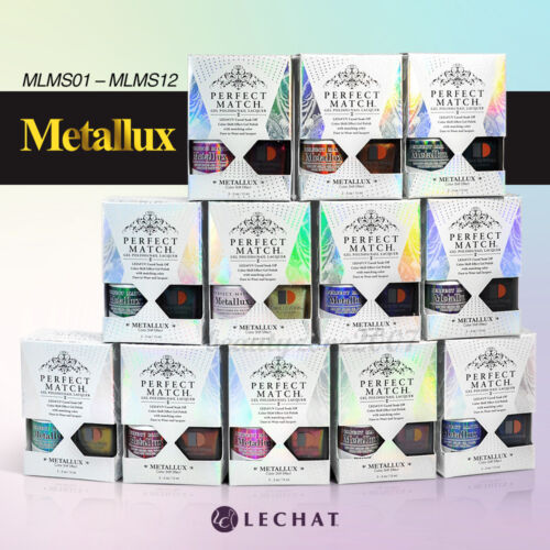 LeChat Perfect Match Metallux Collection Soak-off Gel Polish + Nail Lacquer