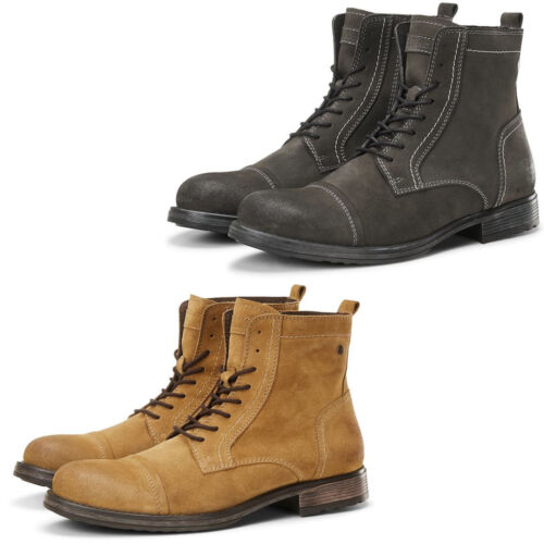 Jack & Jones Ankle Boots Mens Suede Leather Winter Lace Up Shoes JFWRussell