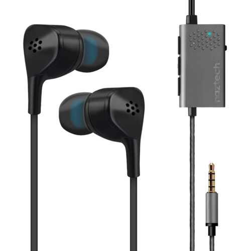 Naztech X1 3.5mm Active Noise-Cancelling Earphones with Microphone - Black