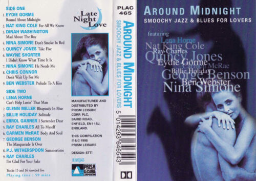SMOOCH JAZZ & BLUES FOR LOVERS Around Midnight - Cassette Tape   SirH70
