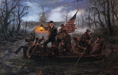 Jon McNaughton Crossing the Swamp Donald Trump Art Print 15 x 10