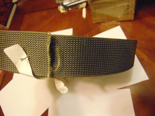 Genuine Green Military Grade Web Belt Material Cut 50 Inches For Your Buckle