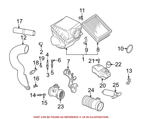 For Bmw Genuine Air Charge Temperature Sensor 13621739510