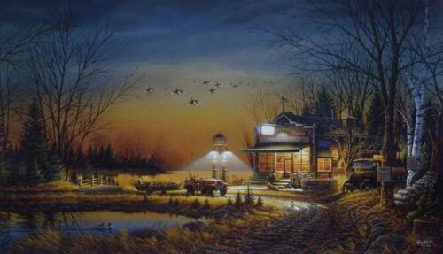 "Terry Redlin "" Welcome to Paradise"" Country Store  Art Print With COA 24"" x 14"""