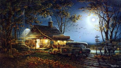 Terry Redlin Autumn Traditions Pumpkin Farm Art Print with Certificate 24 x 14