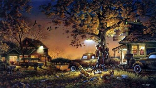 Terry Redlin Twilight Time Hunting Art Print with Certificate 24 x 14