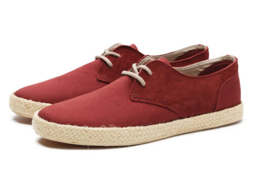 Pointer Chester Canvas Hessian Sole Pumps in Burgundy SALE RRP £70