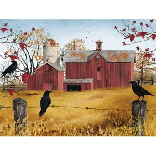 Billy Jacobs Autumn Gold Farm Country PAPER Art Print  16 x 12