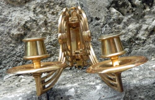VINTAGE Victorian Brass Piano Wall Candelabra Sconce