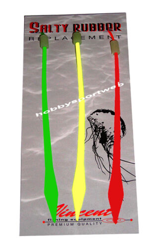VIBE TAIL SALTY RUBBER COL  VERDE + GIALLO + ROSSO  RICAMBIO PER KABURA VINCENT