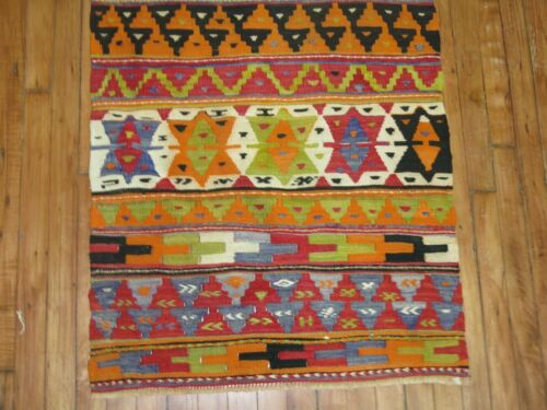 Vintage Tribal Turkish Anatolian Kilim Rug Runner Size 2'6''x6'10''