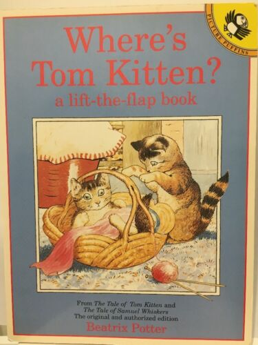 Wheres Tom Kitten?: A Lift-the-Flap Book Picture Puffin Potter Beatrix FREE POST