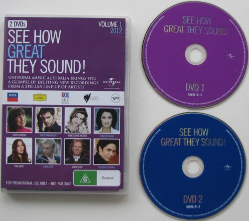 SEE HOW GREAT THEY SOUND VOLUME 1, 2012...2 DVD SET REGION 4