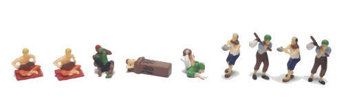 Gaugemaster Gmkd71 - Homeless People (9) Figur Set n Spur Set