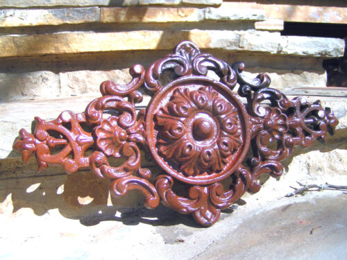 Cast Iron Pediment, Victorian design, Rust finish 0875