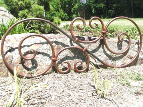 Large scrolled Iron Pediment, Door Topper, Medallion Valance