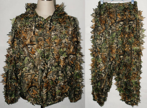 REALTREE CAMO HUNTING LEAF NET GHILLIE SUIT JACKET AND TROUSERS -32249Reproductions - 156452