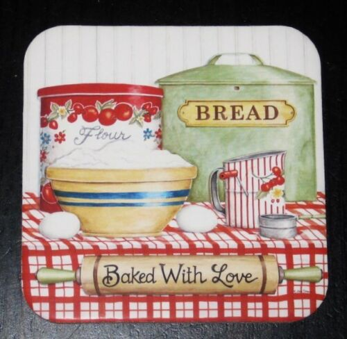 SET OF 4 BAKED WITH LOVE COASTERS