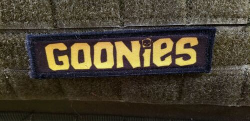 1x4 Goonies Logo Morale Patch Funny Tactical Military USA flag Hook BadgeArmy - 48824