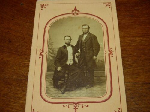 Antique Victorian Tintype Photograph of L.A. Longstreet,Monmouth County,NJ,1872