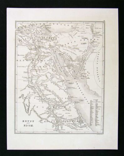 1847 Boynton Map - Egypt & Edom - Cairo Alexandria Nile River Red Sea Arabia