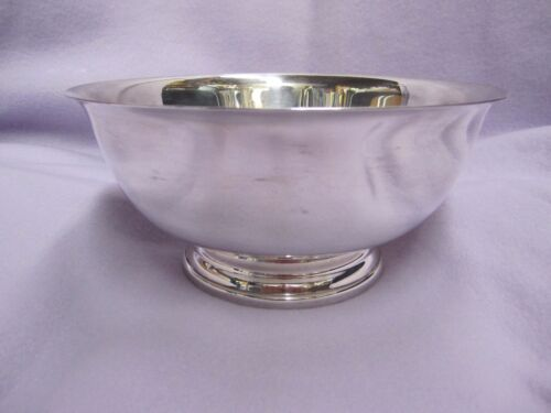 "Vintage 1966 Gorham EP YC780 Silverplate footed 8""  Serving Bowl Revere"