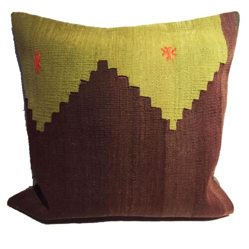 """Superb Custom Made Old Turkish  Tribal Kilim Pillow Cover  20"""" by 20"""""""
