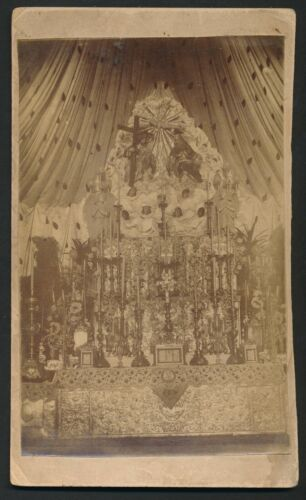 1870's ASIAN SHRINE Incredible Vintage Artistic Cabinet Photo
