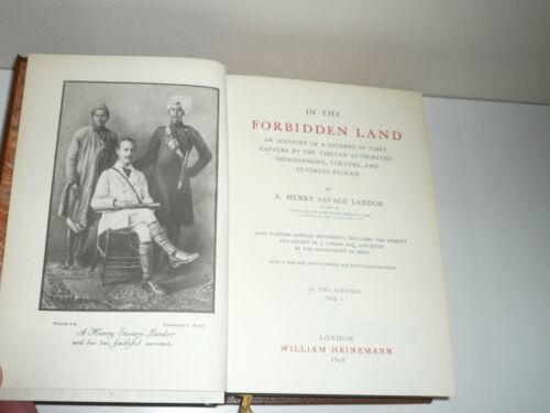 IN THE FORBIDDEN LAND 2 VOLUMES IN ONE BY A. HENRY SAVAGE LANDOR FACSIMILE