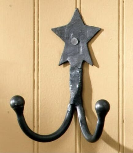 AU BLACK STAR  DOUBLE HANGER COAT HOOK HOLDER