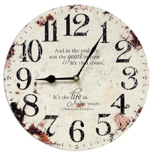 """PRIMITIVE VINTAGE LOOKING """" the years in your life that count """" WALL CLOCK"""