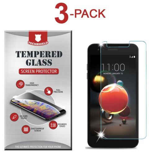 (3-Pack) Tempered Glass Film Screen Protector For LG Aristo 2 Plus
