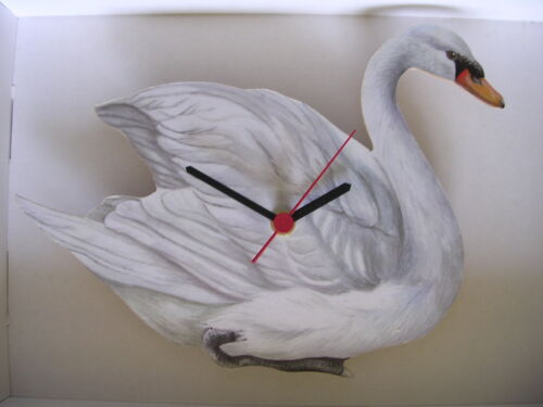 WHITE SWAN WALL CLOCK. NEW AND BOXED.