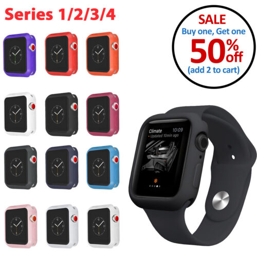 TPU Bumper Silicone Soft Case For Apple Watch Series 1 2 3 4 38mm 40mm 42mm 44mm