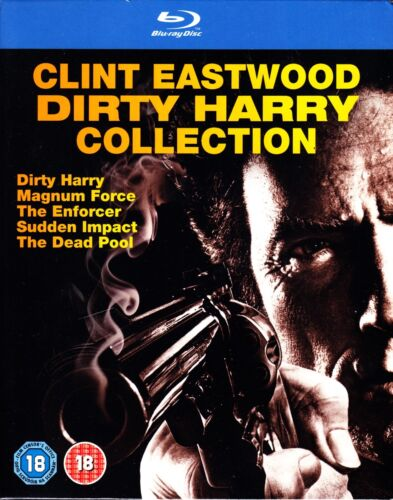 CLINT EASTWOOD DIRTY HARRY COLLECTION (1971-1988) BLU RAY 5 FILMS NEW & SEALED