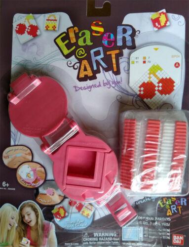 NEW Bandai Eraser Pixel Art Craft Kit plus 1 Refill Kit