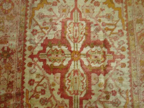 Antique Turkish Angora Oushak Rug Size 4'8''x7'3''