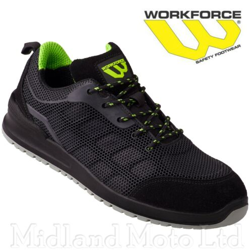 Workforce Steel Toe Cap Black KPU Safety Shoes Boots Trainers Lightweight 37