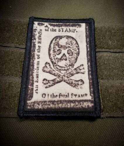 Stamp Act Protest Morale Patch Tactical ARMY Hook Military USA Badge Army - 48824
