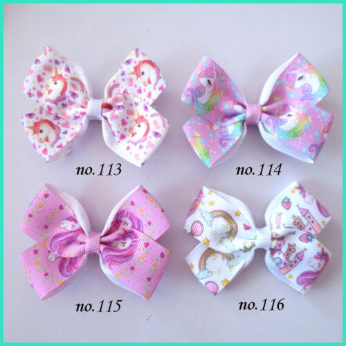 """500 BLESSING Good Girl 2.75"""" Angel Hair Bow Clip Unicorn Accessories Wholesale"""