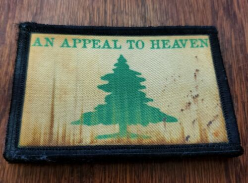 An Appeal To Heaven Morale Patch Military Tactical Army Flag USA Hook BadgeArmy - 48824