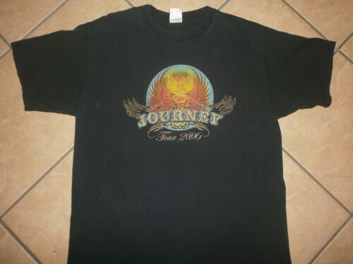 JOURNEY CONCERT t SHIRT Tour Cities Dates 2-Sided 2006 Don't Stop Believing Band