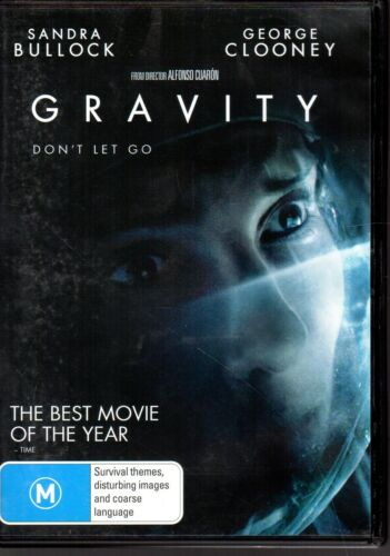 GRAVITY - DVD R4 (2013) Sandra Bullock George Clooney - LIKE NEW - FREE POST