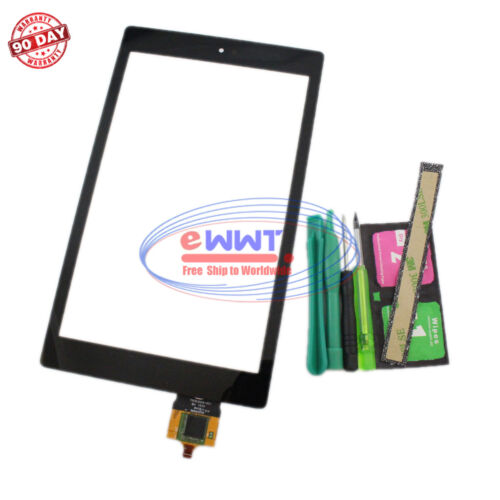 FREE SHIP for Amazon Kindle Fire HD8 2016 Black Touch Screen Glass +Tool ZVLU632