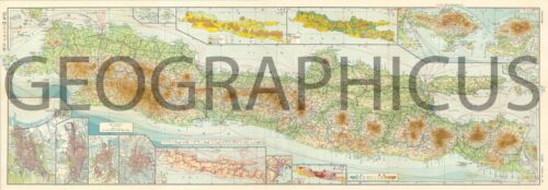 1942 OR SHOWA 17 LARGE JAPANESE LIMITED EDITION MAP OF JAVA